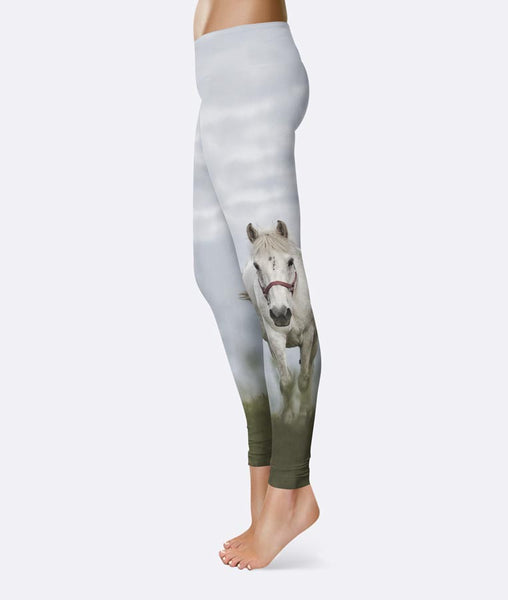 Running Gray Horse Leggings