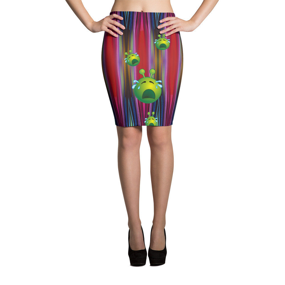 Aliens Pencil Skirt