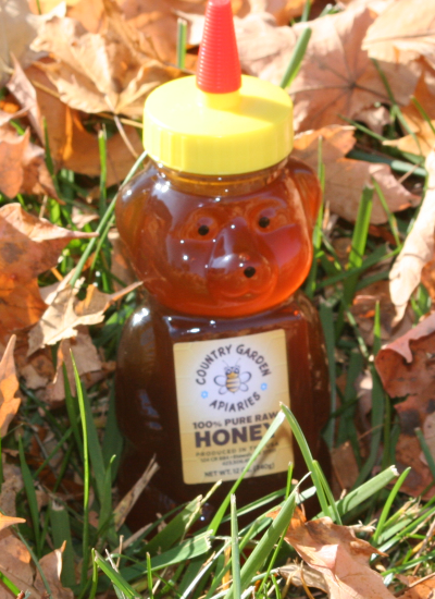 12 oz. Pure Raw Honey Bear