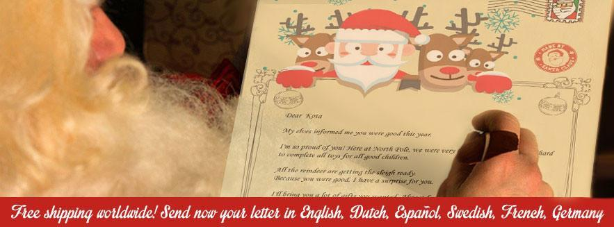 santa sends letter customized letter to worldwide magic snow