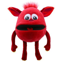 Red- Baby Monster Hand Puppet