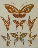 GT14-Temporary Flash Gold Jewelry Tattoo- Butterflies