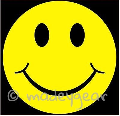 Car Window Vinyl Decal Sticker- Smiley Face