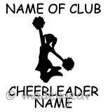 Car Window Vinyl Decal Sticker- Sports Cheerleading Personalized