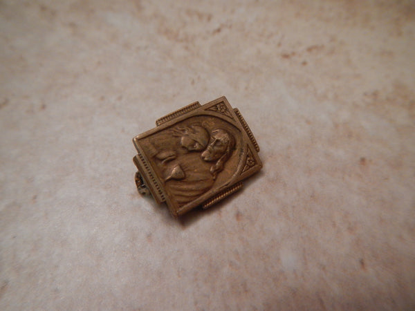 Vintage First Holy Communion Lapel Pin Catholic Church