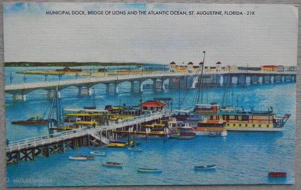 Municipal Dock Bridge of Lions St. Augustine FL