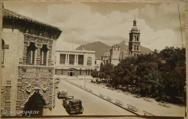 Real Photo Post Card *RPPC* The Cathedral  Monterrey Nuevo Leon, Mexico