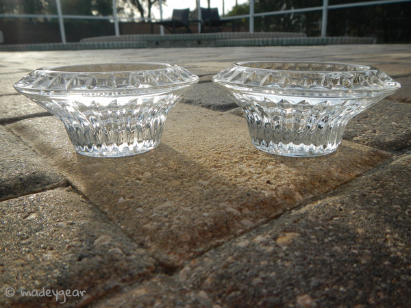 Lead Crystal German Democratic Republic Candle Holders