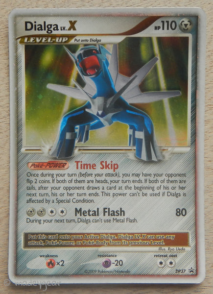 2009 Pokemon Trading Card Dialga LV.X Hologram DP37 Promo