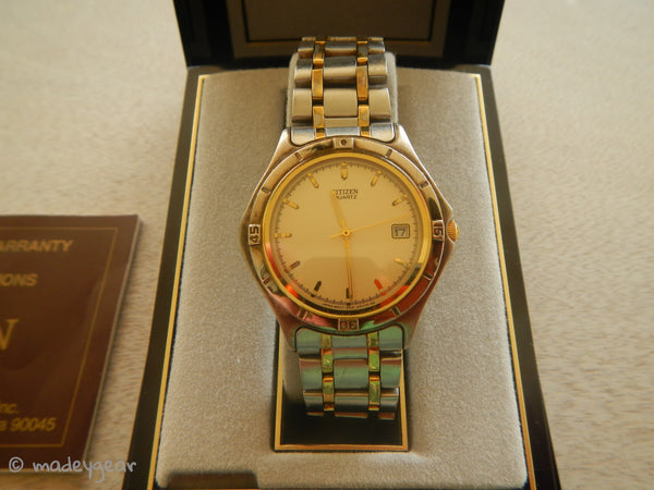 Men's Citizen Quartz Two-Tone Watch With Date- Non Working