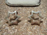 925 Sterling Silver 6 Point Star Post Earrings Mexico