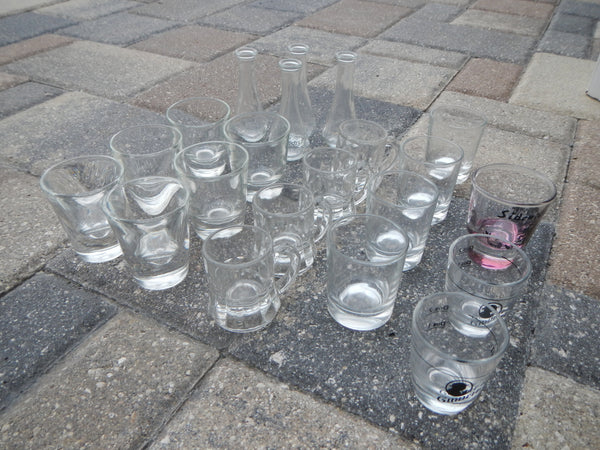 Variety of Shot Glasses and Glassware~ RUHRGLAS REIMS FEDERAL