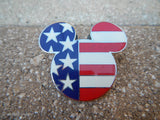 2002 Disney Patriotic Mickey Mouse Head Icon USA American Flag Stars & Stripes Pin