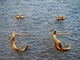 14K Yellow Gold CARLA Corporation Drop Earrings~ 1 gram