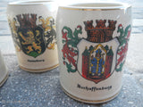 German Beer Mug 1/2 Litre Stein Hand Painted A. Wilhelm Germany~ Qty 3