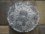 Czech Bohemia Hand Cut Queen Anne's Lace Crystal Ashtray~ 8 Section Bottom