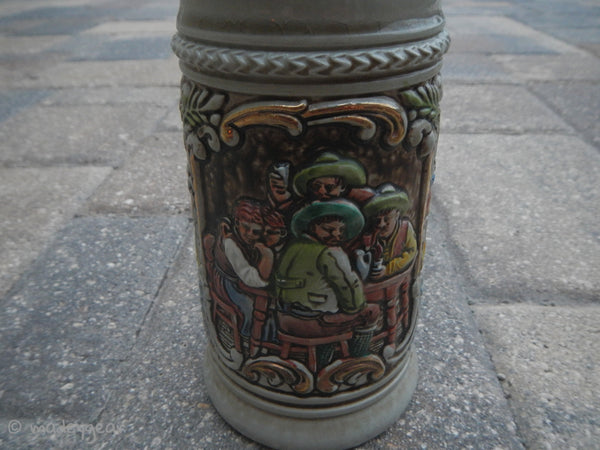 Vintage West Germany Stein~ GERZ with Pewter Lid