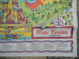 Rare Original 1971 Walt Disney World Disney Magic Kingdom Park Guide Map