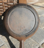 Vintage Birmingham Stove and Range #3 Cast Iron Skillet with Heat Ring~ 6 5/8""