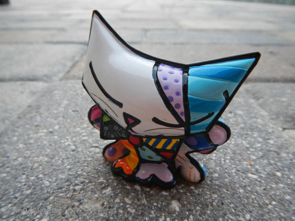"Romero Britto Miniature Figurine ""SUGAR"" Cat~ 2010"