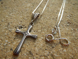 Vintage James Avery Sterling Serenity Dove Cross Pendant Necklace Unique Bale