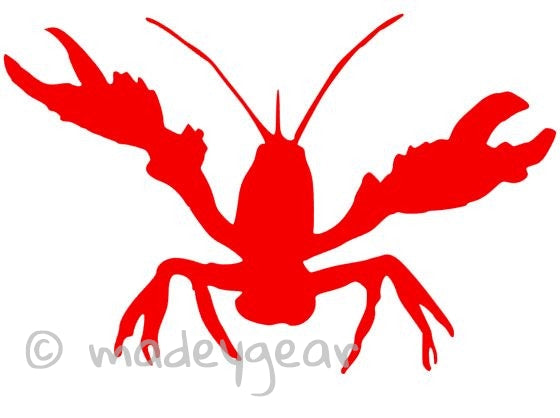 Car Window Vinyl Decal Sticker- Creole Louisiana Crawfish