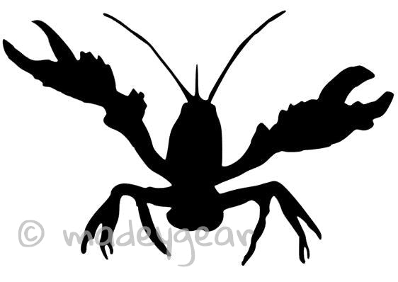 Car Window Vinyl Decal Sticker Creole Louisiana Crawfish
