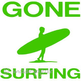Car Window Vinyl Decal Sticker- Sports Surfing- GONE SURFING