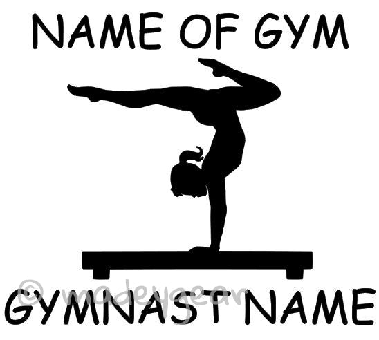 Car Window Vinyl Decal Sticker- Sports Gymnastics Personalized