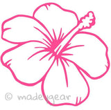 Car Window Vinyl Decal Sticker- Beach Hibiscus