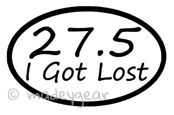 Car Window UV Protected Vinyl Decal Sticker- Sports Running- I Got Lost 27.5