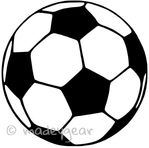 Car Window Vinyl Decal Sticker- Sports Just Soccer Ball Futbol