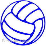 Car Window Vinyl Decal Sticker- Sports Just Volleyball Outline- 2 Decals