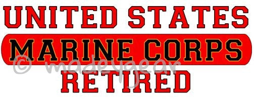 Car Window UV Protected Vinyl Decal Sticker-  Military- Marine Corps  Retired