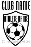 Car Window Vinyl Decal Sticker- Sports Soccer Futbol Personalized