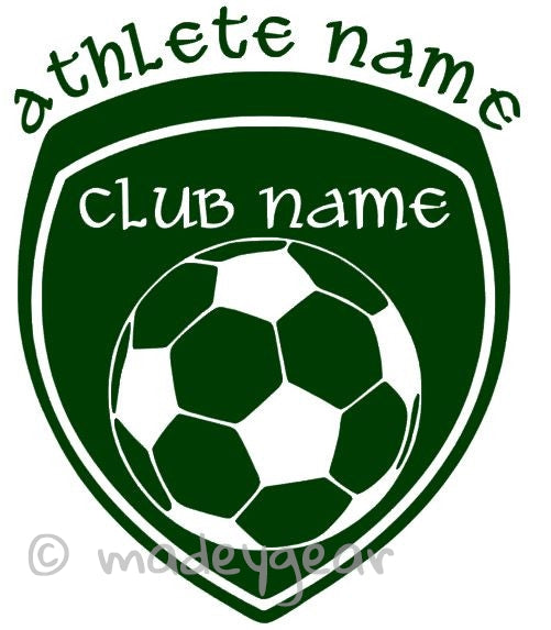 Car Window Vinyl Decal Sticker- Sports Soccer Futbol Personalized 2