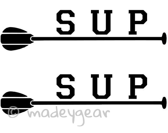 Car Window Vinyl Decal Sticker- Sports Paddleboard- SUP paddle (Qty 2)