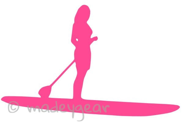 Car Window Vinyl Decal Sticker- Sports  Paddleboard (SUP) Female