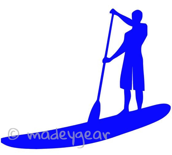 Car Window Vinyl Decal Sticker- Sports  Paddleboard (SUP) Male