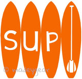 Car Window Vinyl Decal Sticker- Sports Standup Paddleboard- SUP on Boards