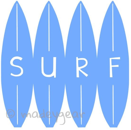 Car Window Vinyl Decal Sticker- Sports Surfing- SURF on Boards