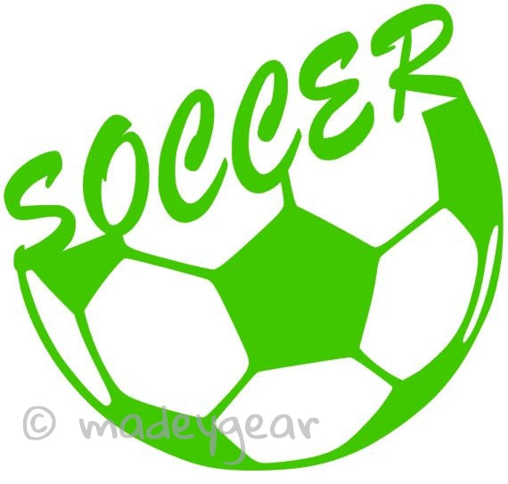 Car Window Vinyl Decal Sticker- Sports Soccer Ball Futbol