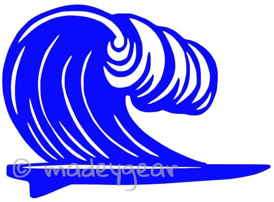 Car Window Vinyl Decal Sticker- Sports Surfing- Surfboard with Wave