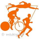 Car Window Vinyl Decal Sticker- Sports Running- Triathlon
