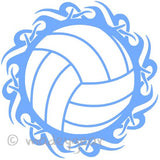 Car Window Vinyl Decal Sticker- Sports Tribal Volleyball