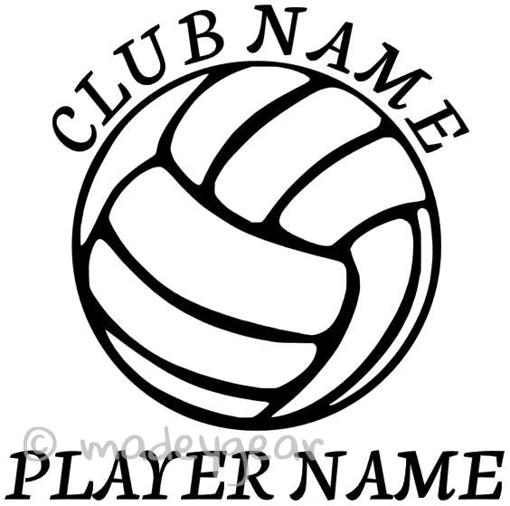 Car Window Vinyl Decal Sticker- Sports Volleyball Personalized 2