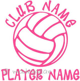 Car Window Vinyl Decal Sticker- Sports Volleyball Personalized
