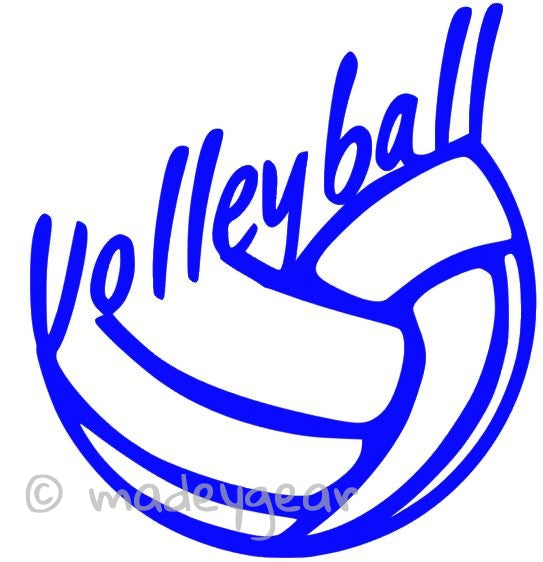 Car Window Vinyl Decal Sticker- Sports Volleyball
