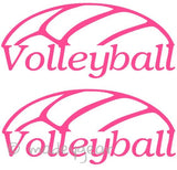 Car Window Vinyl Decal Sticker- Sports Volleyball Down Under (2 Decals)