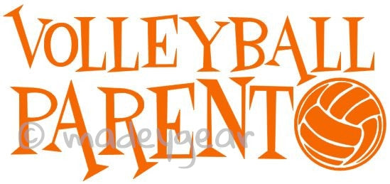 Car Window Vinyl Decal Sticker- Volleyball Parent